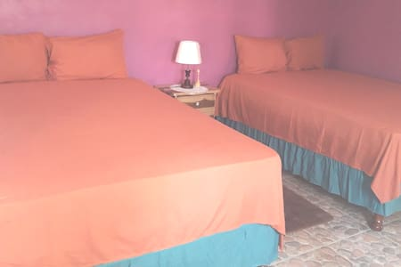 Doranja Twin Private Room 3 : two Queen size beds, night table, dresser, fans and hangers air condition .