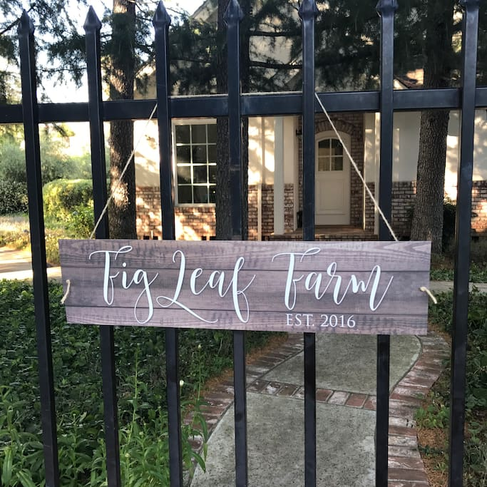Our Farm sign on the Cottage gate lets you know you're on the right path.