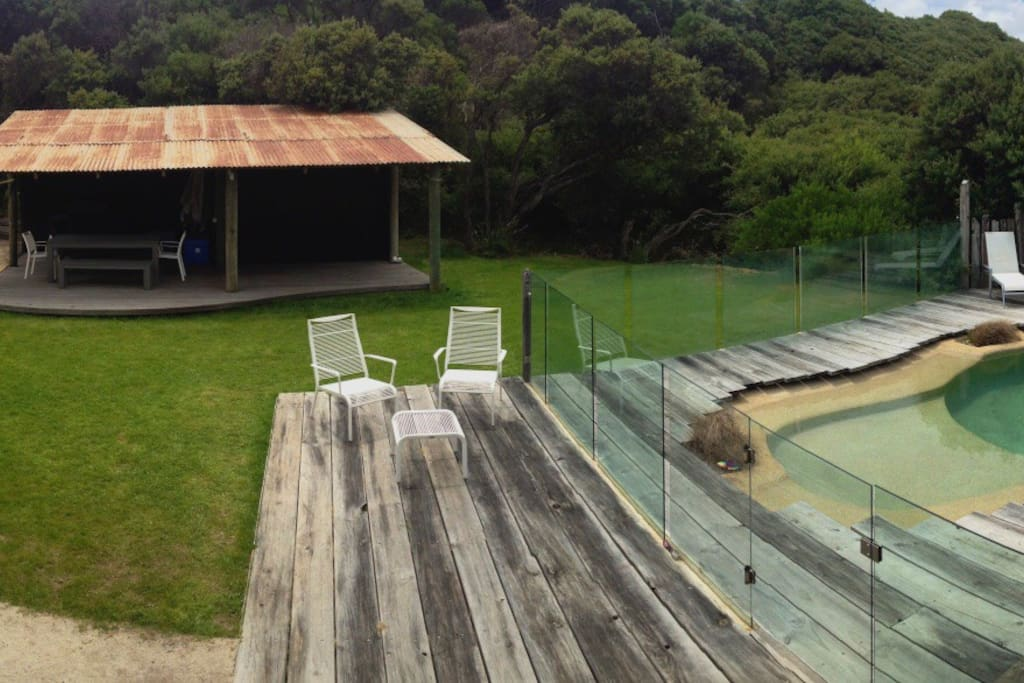 Out door beach house with BBQ and dinning table