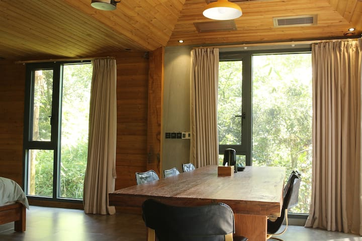 长泰山水畔树屋山景A1-森林野奢双层山景家庭房