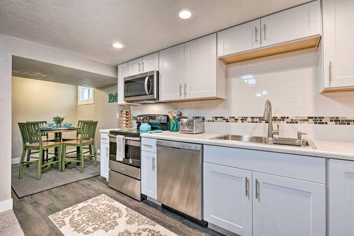 This basement apartment makes for an ideal Salt Lake City getaway.