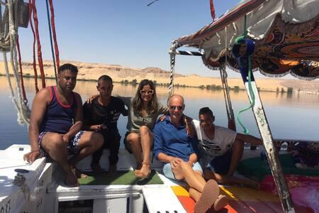 Nile Freedom, felouque à quai