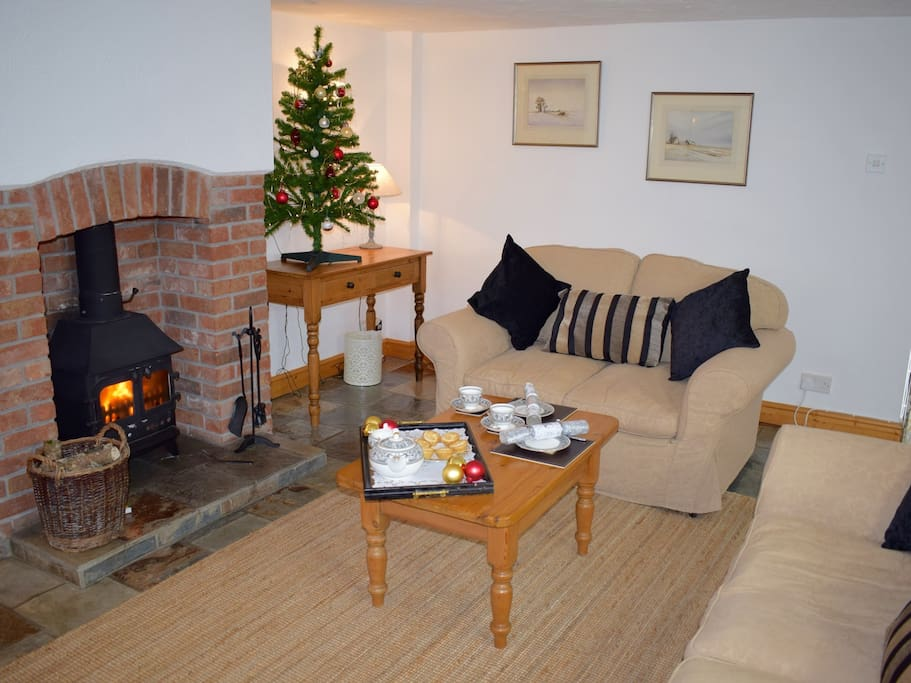 The Lounge Area in Clematis at Christmas