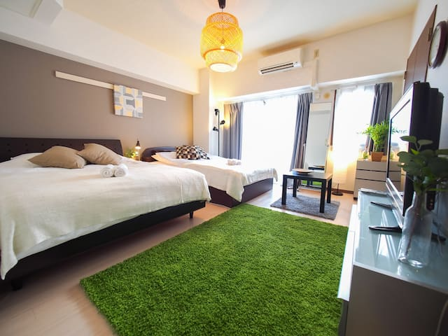 LIVELY NEIGHBORHOOD, DOTONBORI OSAKA NAMBA WIFI 91 - Chuo Ward, Osaka - Apartamento
