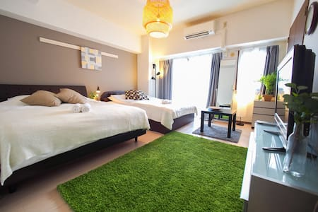 LIVELY NEIGHBORHOOD, DOTONBORI OSAKA NAMBA WIFI 91 - Chuo Ward, Osaka - Appartement