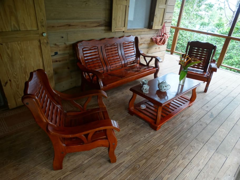 Relax on our comfortable, locally made, deck furniture!