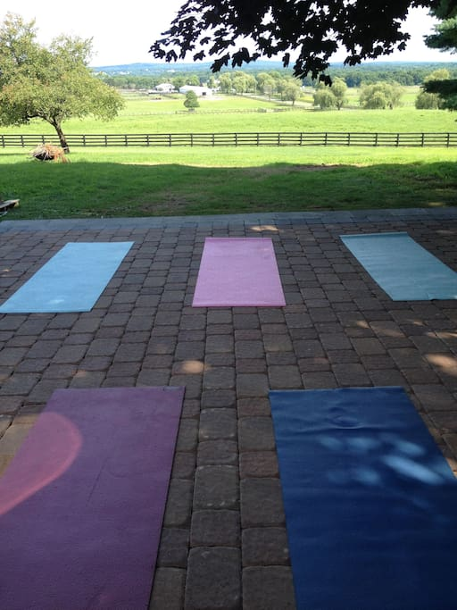 New patio for yoga with view