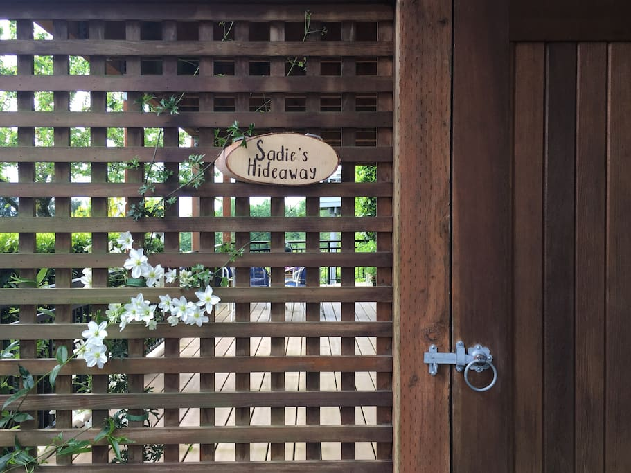 Your own private entrance