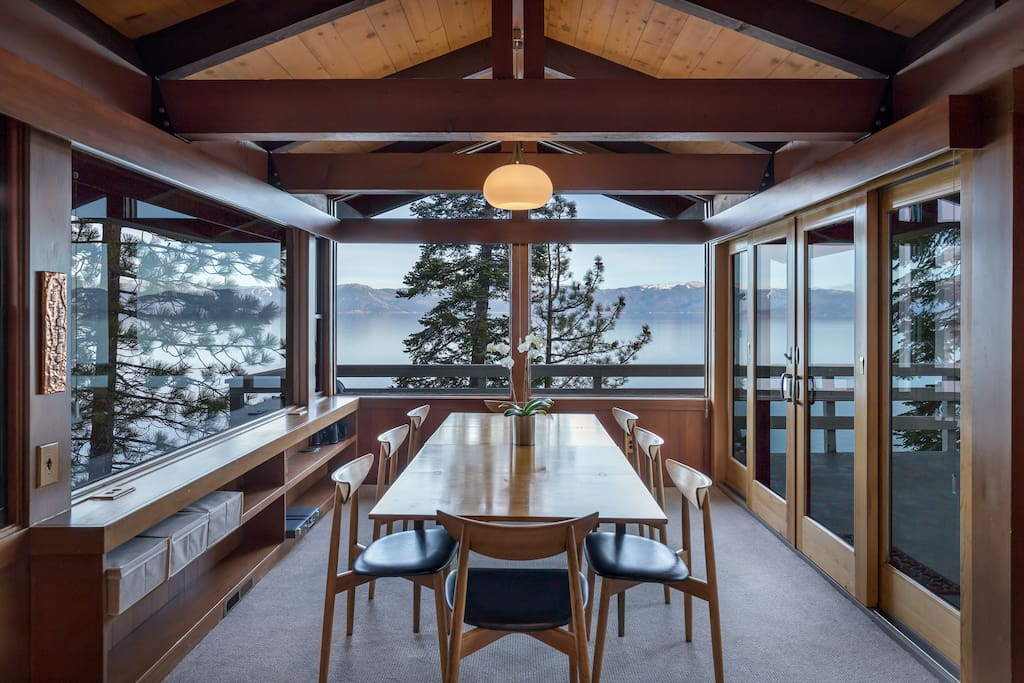 Tahoe lakefront house private dock buoy houses for for Lake tahoe architecture firms