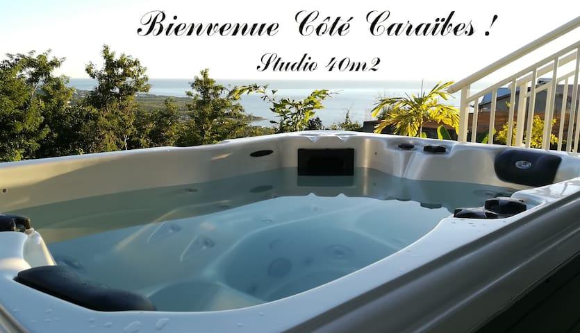 CÔTÉ CARAÏBES Studio O Solèy, magnifique vue mer