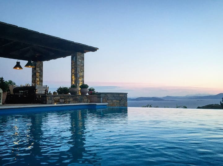 Akrolithos Villa - Private Pool│Breathtaking View