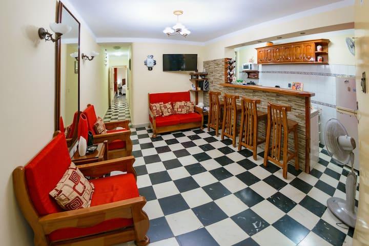 Ideal habitación para familias de cuatro personas.