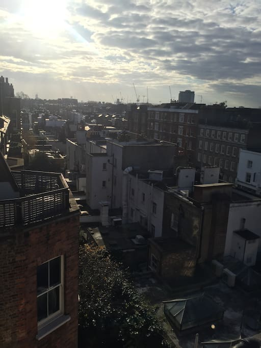 Roof terrace with London view