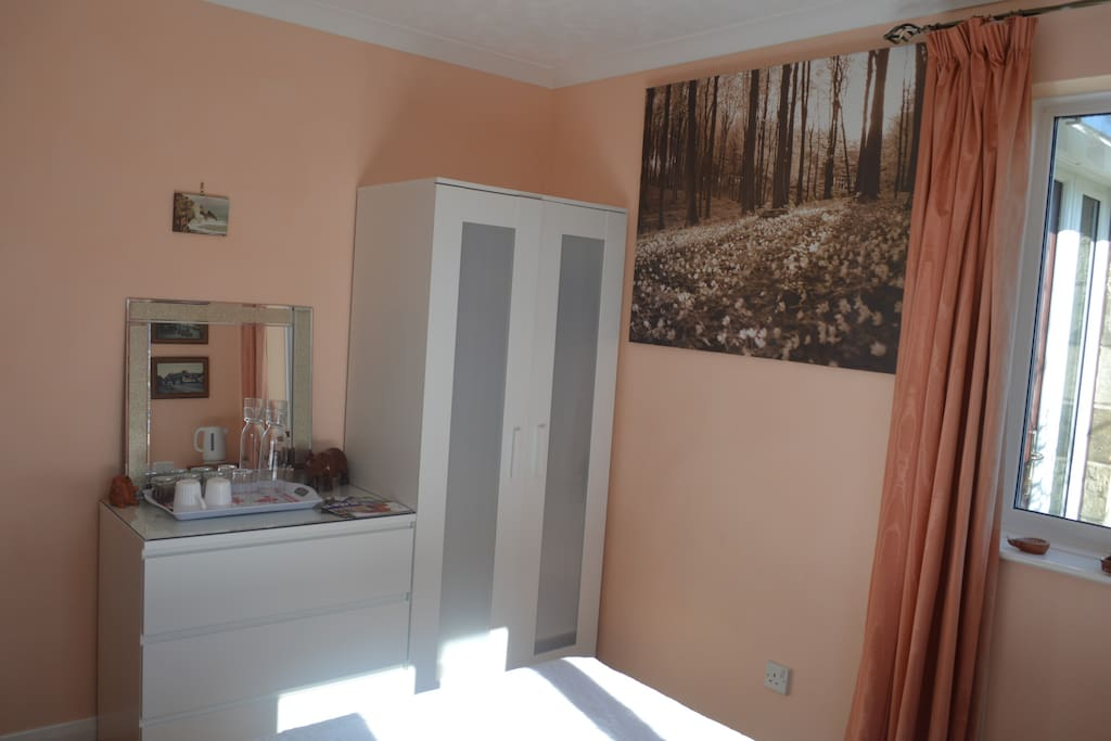 Apricot bedroom, downstairs