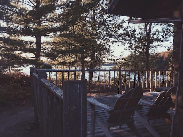 Lakeside Rustic Log Cabin