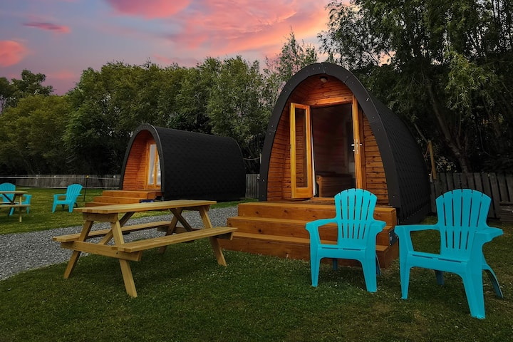 Parkside Glamping Pod - close to our private beach
