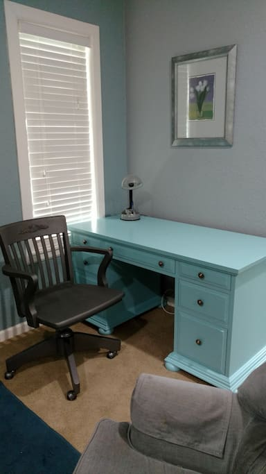 Desk for working on your laptop or check the drawers for everything you need to color.