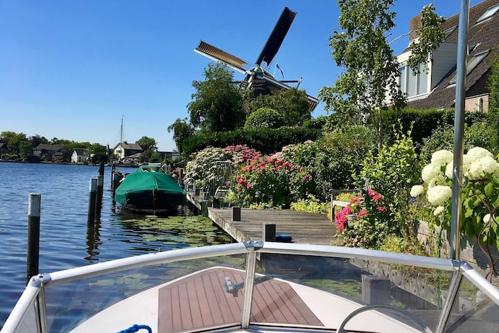 Beautiful Villa at the Vecht river - 6 persons
