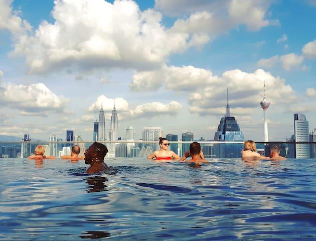 Luxury 1BR High Floor&KLCC Sky Pool中文房东#豪华套房和无边际泳池 - Kuala Lumpur - Apartment