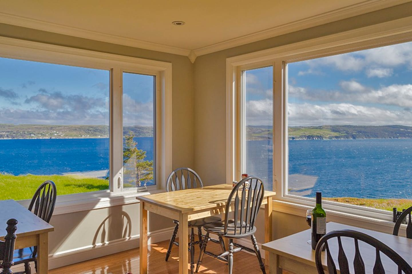 View from the dining room at The Bayside Bed and Breakfast