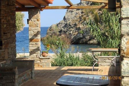 villapetramarina, beach house, island Evia, Greece