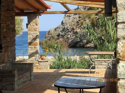 villapetramarina, cases de platja, illa d'Evia, Grècia