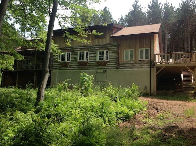 Log Home on Devil Lake