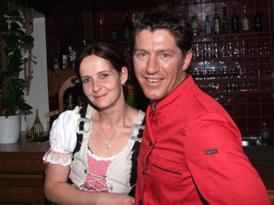 Ihre Gastgeber Heinz und Evelyn