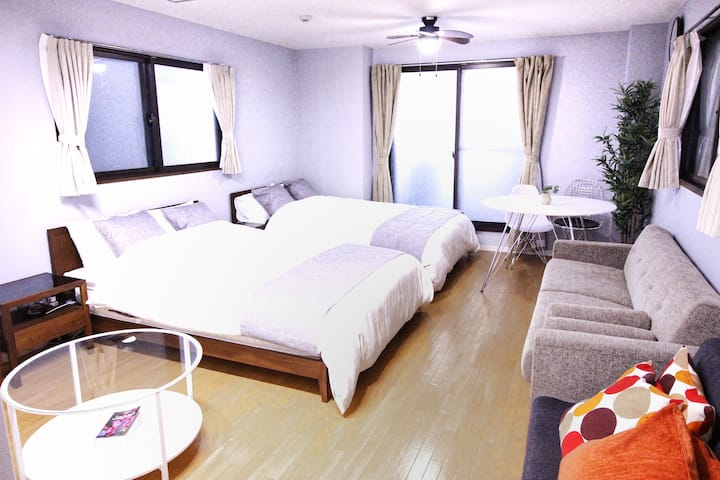 SHINJUKU Sta 6 MIN by train/FREE Wi-Fi/MAX6people