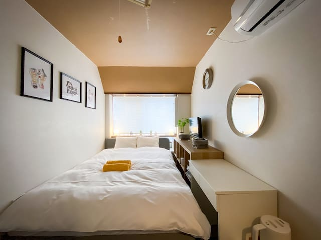 Shinjuku Simple Private Double Bed/Free WiFi