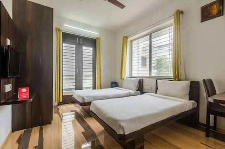 Spacious room with AC