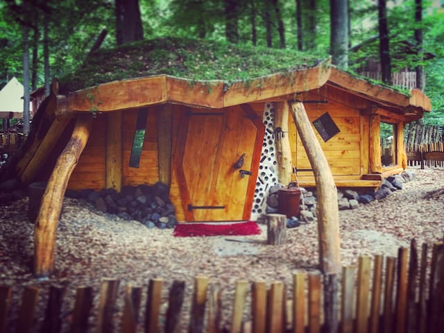 Earth Hobbit House in the forest near Frankfurt