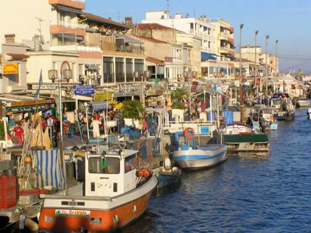 Le port de pêche, sous l'appartement (photo office du tourisme)
