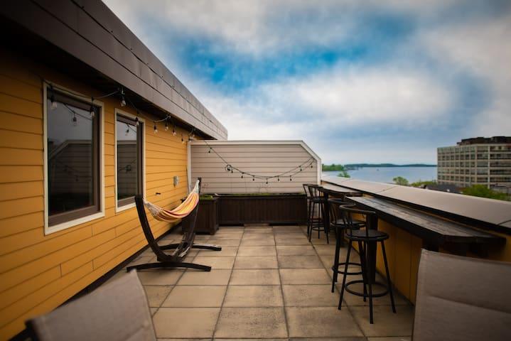 Rustic Modern Penthouse Loft Downtown Dartmouth
