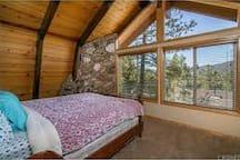 2nd floor bedroom #2 w/ King sized bed closet+dresser