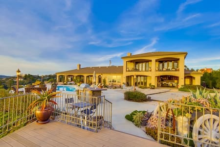 Stunning Hilltop Estate with Private Vineyard - Alpine