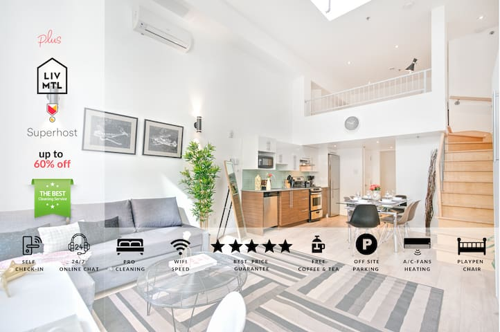 Liv MTL | Downtown 502 | Up to 60% OFF | Spacious Duplex + Big Family