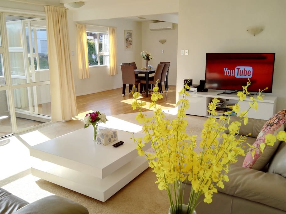 Lay back and enjogy 55 inch Smart Tv or HiFi