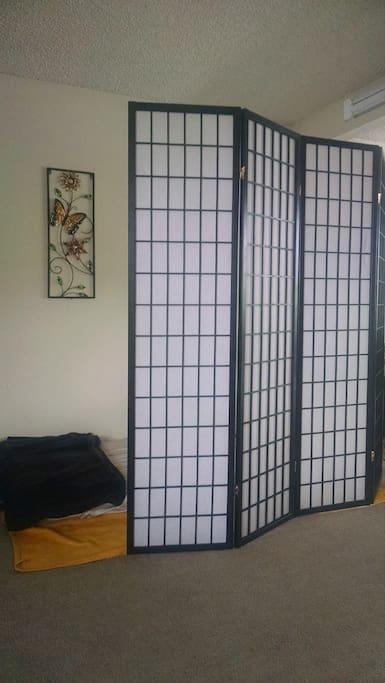 Room Divider with Mattress