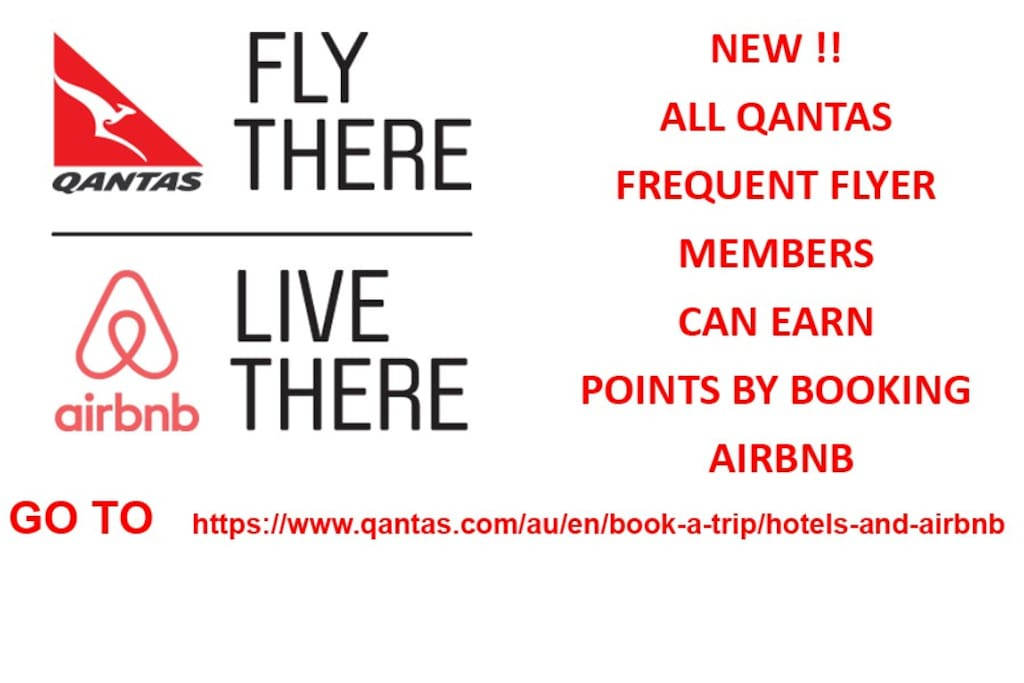Yes! It's true!! Book this through the Qantas website and earn frequent flyer points. How good it that!