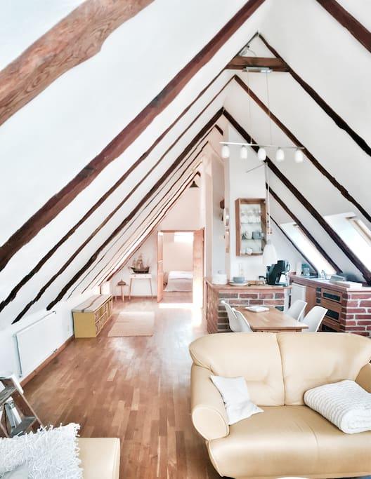 panorama studio im denkmal hof apartments for rent in dessau ro lau sa germany. Black Bedroom Furniture Sets. Home Design Ideas