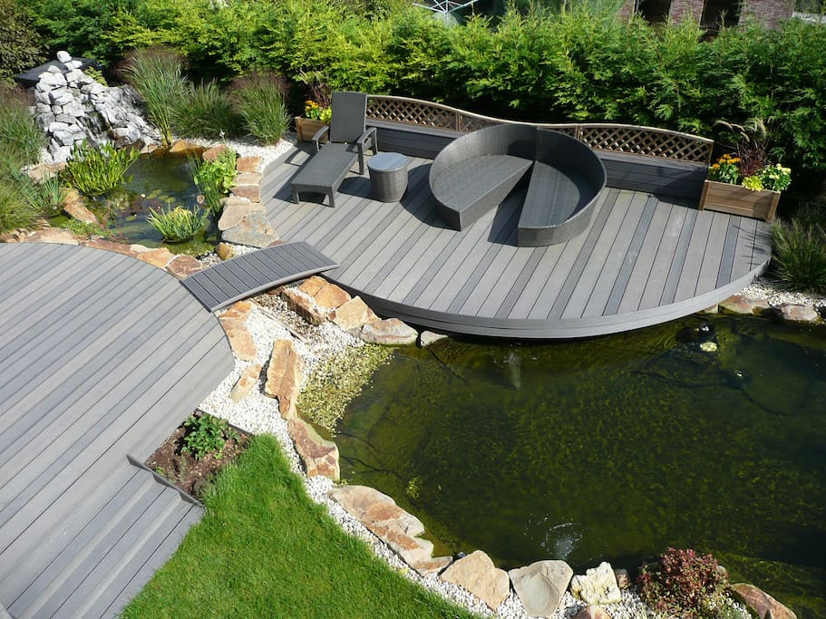 Jardin et terrasses vu d'en haut