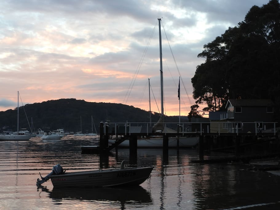 Admire the sailing boats on Pittwater.