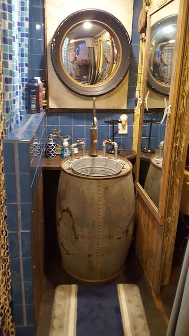 custom sink 1915 oil drum