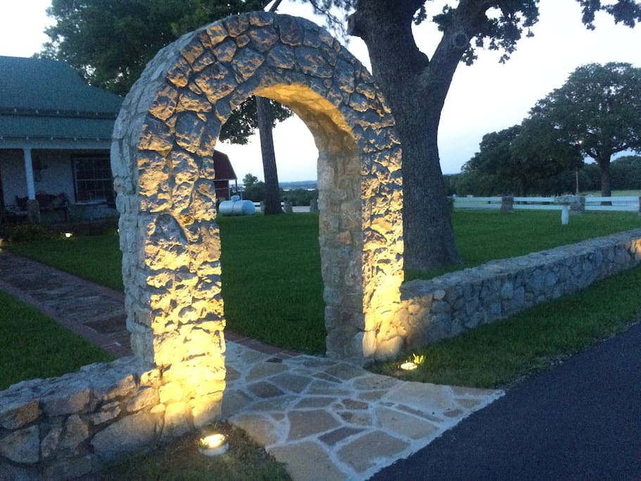 Stone Archway to The Liberty Suite