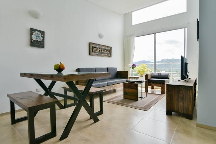 Apartamento VINTAGE nuevo y confortable en VILLETA