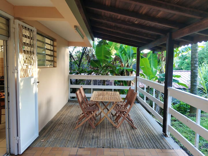Apartment with one bedroom in Le Lamentin, with enclosed garden and WiFi - 25 km from the beach