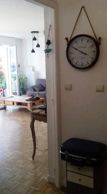 Entrée de l'appartement.