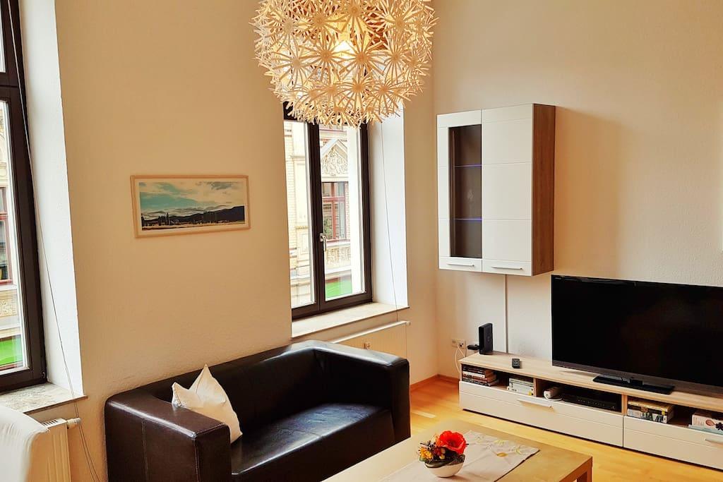 3 meter high ceilings, quality furnishings, Sony flatscreen tv