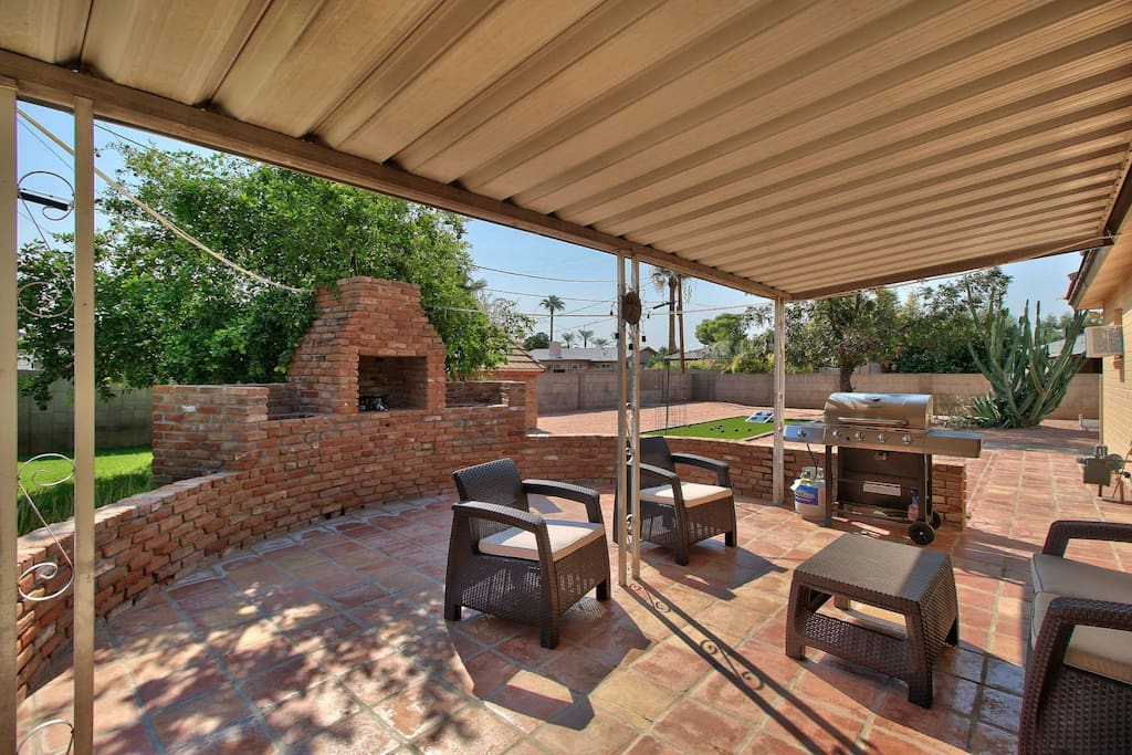 Backyard Patio with outdoor seating and BBQ grill